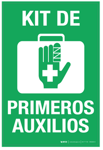 Kit de Primeros Auxiios (First Aid Kit) - Wall Sign