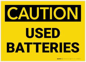 Caution: Used Batteries - Label