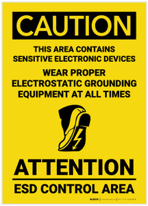 Caution: Wear Proper Electrostatic Grounding Equipment All Time - Label