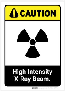 Caution: High Intensity X Ray Beam ANSI Portrait - Label