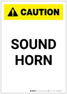 Caution: Sound Horn Portrait - Label