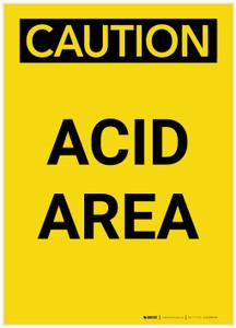 Caution: Acid Area Portrait - Label