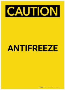 Caution: Antifreeze Portrait - Label