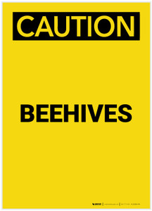 Caution: Beehives Portrait - Label