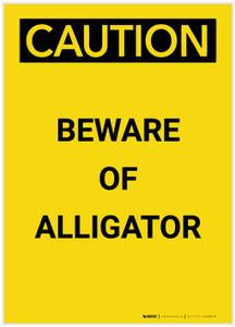 Caution: Beware Of Alligator Portrait - Label