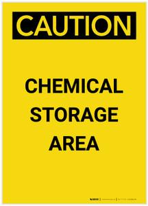Caution: Chemical Storage Area Portrait - Label