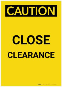 Caution: Close Clearance Portrait - Label