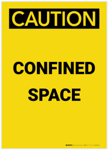 Caution: Confined Space Portrait - Label