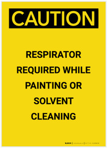 Caution: Respirator Required While Painting Portrait - Label