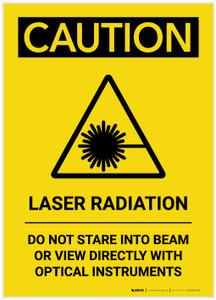 Caution: Laser Radiation Do Not Stare into Beam Portrait - Label