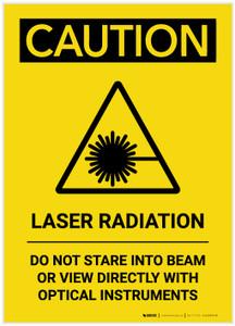 Caution: Laser Radiation Do Not Stare into Beam Portrait - Label
