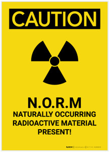 Caution: Naturally Occurring Radioactive Material Portrait - Label