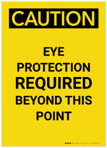 Caution: PPE Eye Protection Required Beyond This Point Portrait - Label
