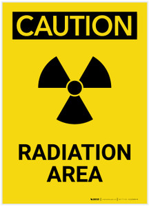 Caution: Radiation Area Portrait - Label