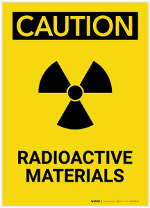 Caution: Radioactive Materials Portrait - Label