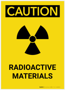 Caution: Warning Radioactive Materials Portrait - Label