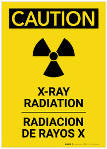 Caution: XRay Radiation Bilingual Portrait - Label