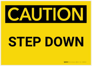Caution: Step Down - Label
