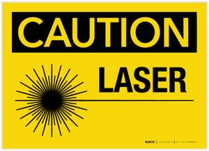 Caution: Laser - Label