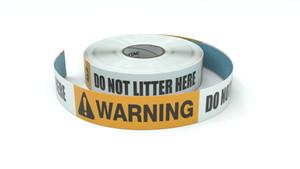 Warning: Do Not Litter Here - Inline Printed Floor Marking Tape