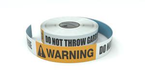 Warning: Do Not Throw Garbage Here - Inline Printed Floor Marking Tape