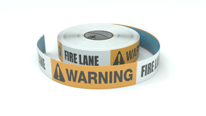 Warning: Fire Lane - Inline Printed Floor Marking Tape