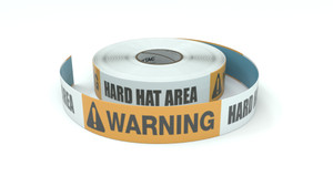 Warning: Hard Hat Area - Inline Printed Floor Marking Tape