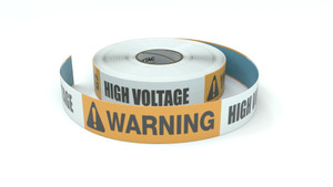 Warning: High Voltage - Inline Printed Floor Marking Tape
