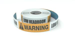 Warning: Low Headroom - Inline Printed Floor Marking Tape