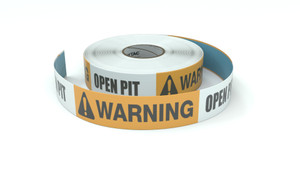 Warning: Open Pit - Inline Printed Floor Marking Tape