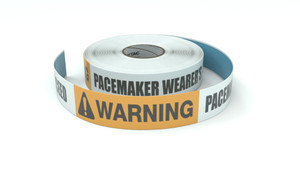 Warning: Pacemaker Wearer's Do Not Proceed - Inline Printed Floor Marking Tape