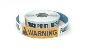 Warning: Pinch Point Keep Hands and Feet Clear - Inline Printed Floor Marking Tape