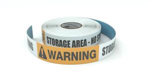 Warning: Storage Area No Smoking - Inline Printed Floor Marking Tape