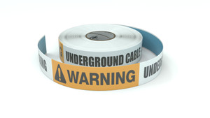 Warning: Underground Cable Call Before Digging - Inline Printed Floor Marking Tape