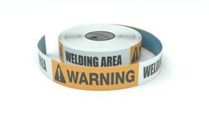 Warning: Welding Area - Inline Printed Floor Marking Tape