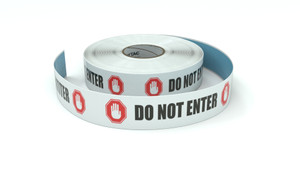 Traffic: Do Not Enter Horizontal - Inline Printed Floor Marking Tape