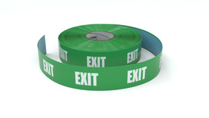 Traffic: Exit - Green - Inline Printed Floor Marking Tape