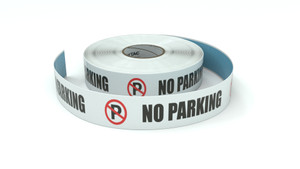 Traffic: No Parking Horizontal - Inline Printed Floor Marking Tape