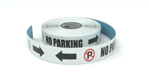 Traffic: No Parking Horizontal Both Arrows - Inline Printed Floor Marking Tape