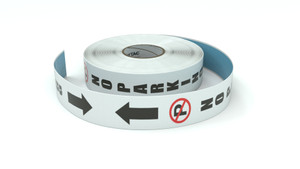 Traffic: No Parking Vertical Both Arrows - Inline Printed Floor Marking Tape