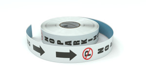 Traffic: No Parking Vertical Arrows Down - Inline Printed Floor Marking Tape