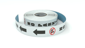 Traffic: No Parking Vertical Arrows Up - Inline Printed Floor Marking Tape