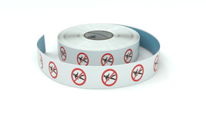 Traffic: No Walking Man - Inline Printed Floor Marking Tape