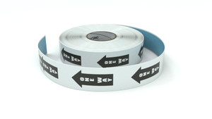 Traffic: One Way Arrow - Large - Inline Printed Floor Marking Tape