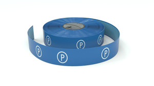 Traffic: Parking Blue Horizontal - Inline Printed Floor Marking Tape