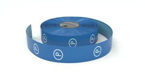 Traffic: Parking Blue Vertical - Inline Printed Floor Marking Tape