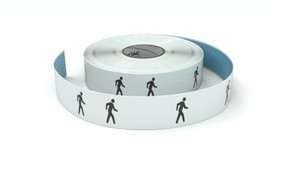 Traffic: Person Walking Symbol Horizontal - Inline Printed Floor Marking Tape