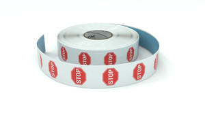Traffic: Stop Icon - Inline Printed Floor Marking Tape