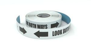 Traffic: Look Both Ways with Arrows - Inline Printed Floor Marking Tape