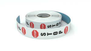 Traffic: Stop Vertical - Inline Printed Floor Marking Tape